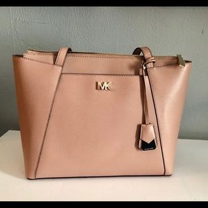 Michael Kors Maddie Fawn Leather Tote NWT